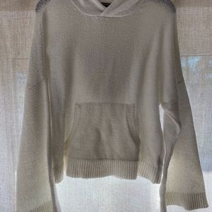 Kenneth Cole Hooded Sweater White S